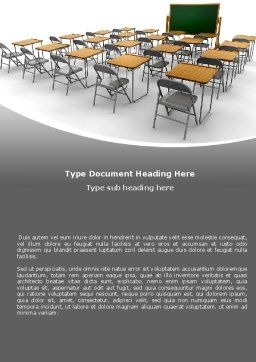 Class Room Word Template, Cover Page, 06777, Education & Training — PoweredTemplate.com
