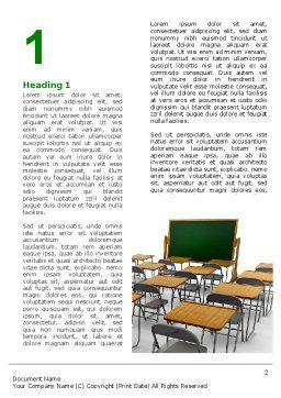 Class Room Word Template, First Inner Page, 06777, Education & Training — PoweredTemplate.com