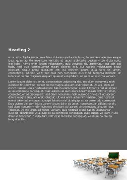 Class Room Word Template, Second Inner Page, 06777, Education & Training — PoweredTemplate.com