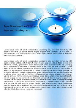 Blue Candles Word Template, Cover Page, 06778, Holiday/Special Occasion — PoweredTemplate.com