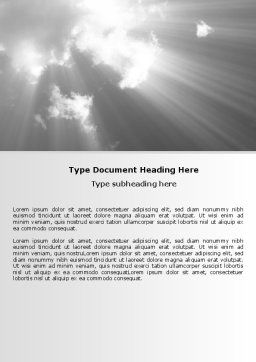 Gray Heaven Word Template, Cover Page, 06780, Nature & Environment — PoweredTemplate.com