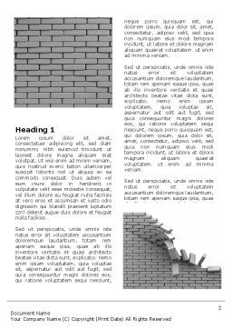 Broken Wall In Gray Word Template, First Inner Page, 06781, Consulting — PoweredTemplate.com