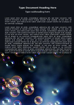 Soap Bubbles Word Template, Cover Page, 06783, Holiday/Special Occasion — PoweredTemplate.com