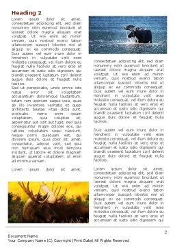 Moose Word Template, First Inner Page, 06785, Agriculture and Animals — PoweredTemplate.com