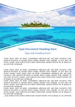 Atoll Reef Word Template, Cover Page, 06787, Careers/Industry — PoweredTemplate.com