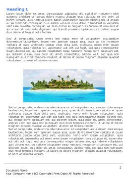 Atoll Reef Word Template First Inner Page
