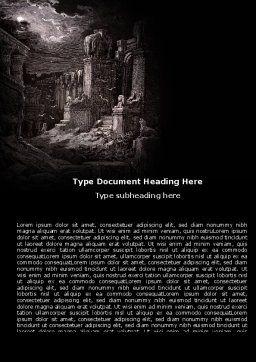 Ancient Ruins Word Template Cover Page