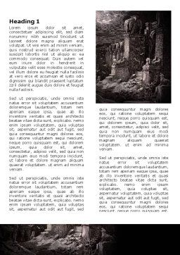Ancient Ruins Word Template First Inner Page