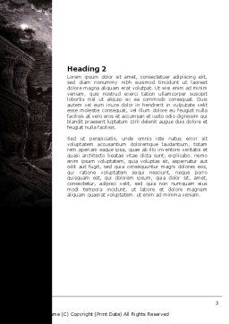 Ancient Ruins Word Template Second Inner Page