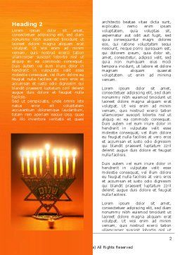 Menorah Word Template, First Inner Page, 06791, Holiday/Special Occasion — PoweredTemplate.com