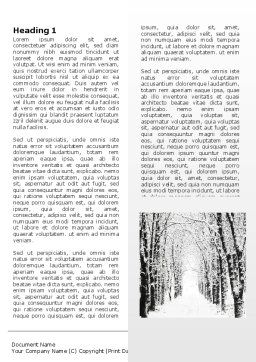 Winter Alley Word Template First Inner Page