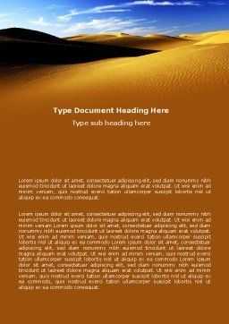 Sand Dune Word Template, Cover Page, 06793, Nature & Environment — PoweredTemplate.com