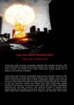 Post-Apocalypse Word Template, Cover Page, 06794, Nature & Environment — PoweredTemplate.com