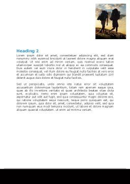 Backpacking On The Mountain Word Template, Second Inner Page, 06795, Sports — PoweredTemplate.com