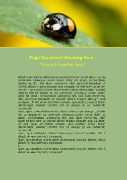 Bug On Green Leaf Word Template Cover Page