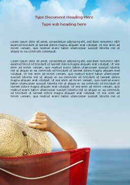Lady On The Beach Word Template Cover Page