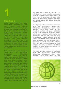 Olive Globe Word Template, First Inner Page, 06800, General — PoweredTemplate.com