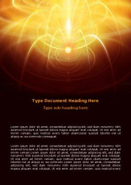 Abstract Fireworks Word Template, Cover Page, 06801, Technology, Science & Computers — PoweredTemplate.com