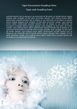 Winter Breeze Word Template, Cover Page, 06802, Nature & Environment — PoweredTemplate.com