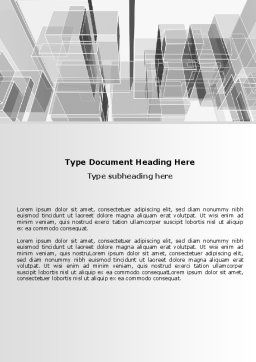 Abstract Architecture Word Template, Cover Page, 06803, Business — PoweredTemplate.com