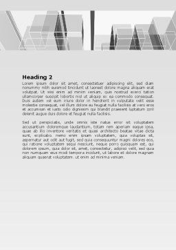 Abstract Architecture Word Template, Second Inner Page, 06803, Business — PoweredTemplate.com
