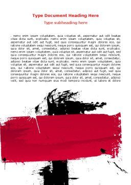 Red Stroke Word Template Cover Page