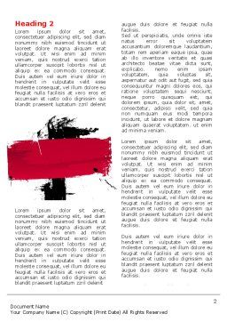 Red Stroke Word Template First Inner Page