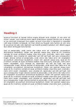 Red Stroke Word Template Second Inner Page