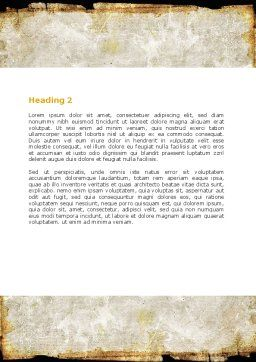 Rusty Background Word Template, Second Inner Page, 06808, Abstract/Textures — PoweredTemplate.com