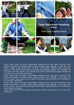 Oriental Medicine Word Template, Cover Page, 06809, Religious/Spiritual — PoweredTemplate.com