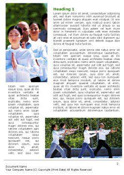 Oriental Medicine Word Template, First Inner Page, 06809, Religious/Spiritual — PoweredTemplate.com