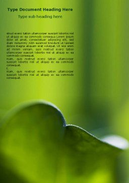 Leaf Word Template, Cover Page, 06810, Nature & Environment — PoweredTemplate.com