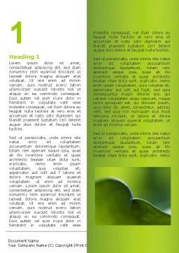 Leaf Word Template, First Inner Page, 06810, Nature & Environment — PoweredTemplate.com