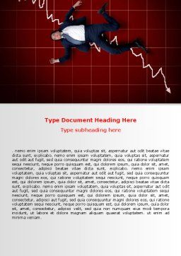 Financial Crisis Word Template, Cover Page, 06814, Consulting — PoweredTemplate.com