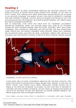 Financial Crisis Word Template, First Inner Page, 06814, Consulting — PoweredTemplate.com