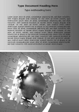 Global Breakthrough Word Template, Cover Page, 06819, Business Concepts — PoweredTemplate.com