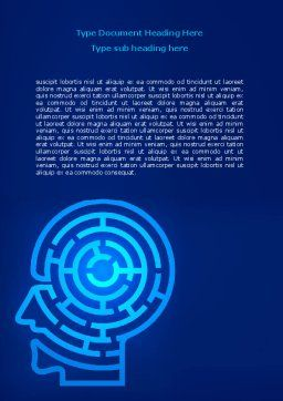 Mind Labyrinth Word Template, Cover Page, 06824, Consulting — PoweredTemplate.com