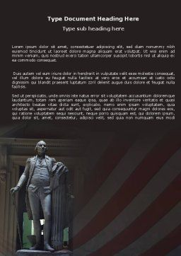 George Washington Word Template Cover Page