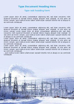 Snowcovered Power Line Word Template Cover Page