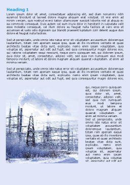 Snowcovered Power Line Word Template, First Inner Page, 06828, Careers/Industry — PoweredTemplate.com
