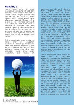 Golf Ball Word Template, First Inner Page, 06837, Consulting — PoweredTemplate.com