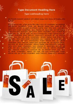 Christmas Sale Word Template Cover Page