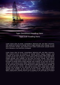 Twilight Sea Word Template, Cover Page, 06845, Sports — PoweredTemplate.com