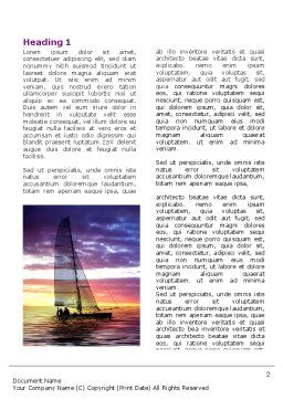 Twilight Sea Word Template, First Inner Page, 06845, Sports — PoweredTemplate.com