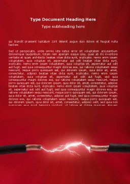 Electric Spark Word Template, Cover Page, 06858, Consulting — PoweredTemplate.com