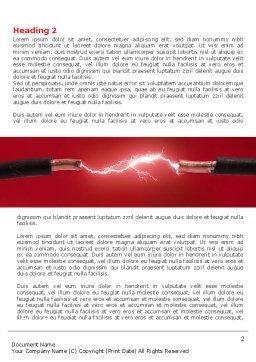 Electric Spark Word Template, First Inner Page, 06858, Consulting — PoweredTemplate.com