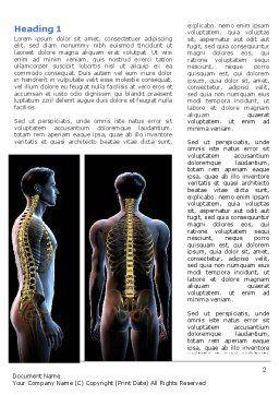 Vertebral Column Word Template, First Inner Page, 06862, Medical — PoweredTemplate.com