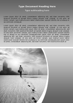 Escapist Word Template, Cover Page, 06867, Business Concepts — PoweredTemplate.com