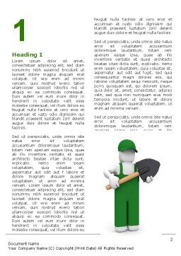 Free Digger Word Template, First Inner Page, 06871, Utilities/Industrial — PoweredTemplate.com