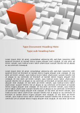 Variability Word Template, Cover Page, 06876, Business Concepts — PoweredTemplate.com